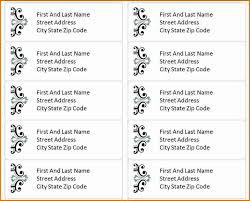 template for address labels divorce document