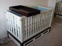 Changing Table And Crib Changing Table Fits Crib Nursery Pinterest Changing