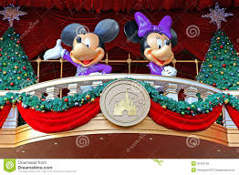 mickey and minnie mouse decoration editorial photo