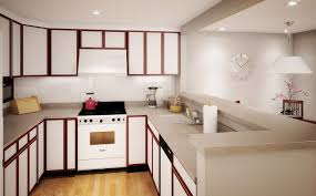 small apartment kitchen decorating ideas amazing glossy brown