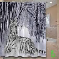 White Tiger Shower Curtain Shower Curtain Elephant Shower Curtain By Xonceuponadesignx