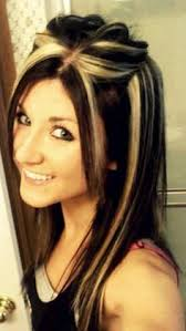chunking highlights dark hair pictures brown hair with blonde chunks brown hairs