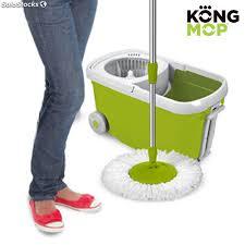 mocio pavimenti mocio rotante e secchio con rotelle kong mop