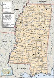 State Map Of Tennessee by State And County Maps Of Mississippi