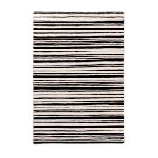 Black White Striped Rug Contemporary Rug Striped Wool Rectangular Black U0026 White