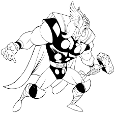 thor coloring pages marvel thor coloring page free printable