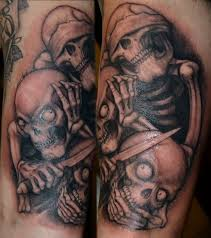 what are skull tattoos and what do they stand for 28 hear no evil see no evil speak no evil tattoos with meanings