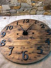 reclaimed wood wall large reclaimed wood wall clock itsfashion club