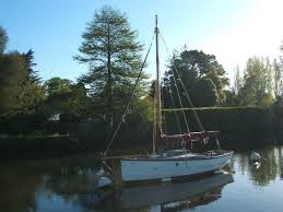 cornish shrimper 19 gaff rig sailing boat in wareham dorset
