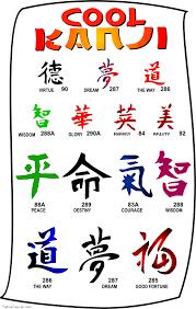 collection of 25 tiny kanji design