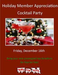 member appreciation cocktail party u0026 toy drive eagle brook