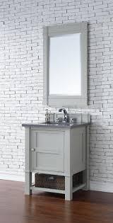 Single Vanity For Bathroom by Abstron 26 Inch Dove Grey Finish Single Sink Bathroom Vanity