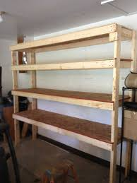 Free Wooden Shelf Plans by 20 Diy Garage Shelving Ideas Guide Patterns