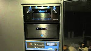 home theater cabinet fan ht equipment rack with lights on youtube