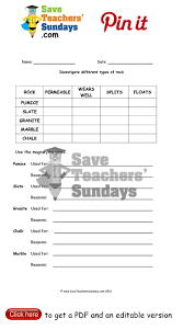 Types Of Rocks All Grade Worksheets Rocks And Minerals Worksheets All Grade