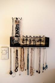 necklace organizer images Wall mounted necklace organizer jewelry shelf 6 steps jpg