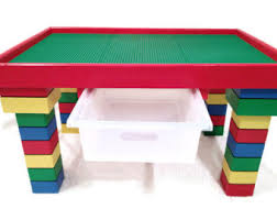 Kids Activity Table With Storage Childrens Furniture Etsy