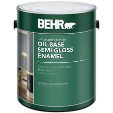 behr 1 gal white semi gloss oil based interior exterior paint