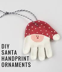salt dough handprint santa ornaments santa handprint baby