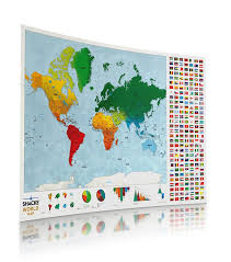 Scratch Off Map World Scratch Off Map With Country Flags U2013 Travel Bible Shop
