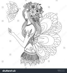 pretty fairy looking flying butterfly stock vector 399616240