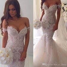 Wedding Dresses Discount Mermaid Wedding Dresses With Lace 2016 Spring Dubai Arabic Off