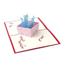 3d pop up greeting card handmade happy birthday merry christmas