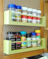 Wooden Spice Cabinet With Doors Diy Wood Spice Rack Burger