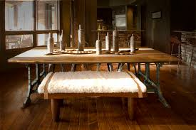 industrial dining room table dining room rustic with hide