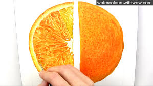 orange paint how to paint a realistic juicy orange slice in watercolour with