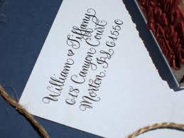 beautiful custom address rubber stamp for wedding invitations