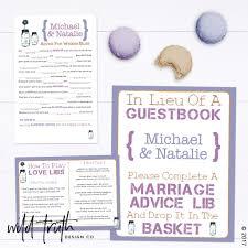 halloween mad libs halloween wedding guest book game custom u2013 wild truth design co