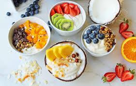 greek yogurt breakfast bowls with toppings modern honey