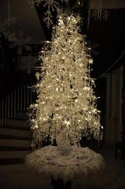 white christmas crystal tree you can add santa holiday quotes