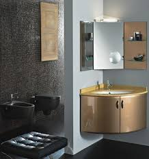 amazing small corner bathroom sink cabinet with curved door panels
