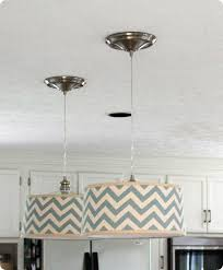 Drum Shade Pendant Light Tutorial How To Convert Can Recessed Lights To Pendants With