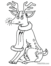 happy reindeer coloring page holiday pages baby fawn deer