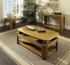 Flip Up Coffee Table Light Brown Oak Wood Lift Up Coffee Table With Bottom Shelf Of
