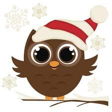 owl christmas free winter owl clipart 50