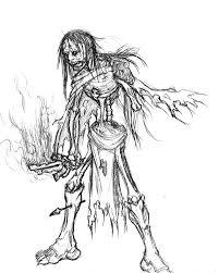 zombie warrior sketch by dark damien on deviantart