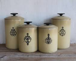 pottery canisters kitchen kitchen canisters etsy