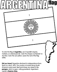 argentina flag coloring page free download