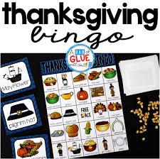 thanksgiving bingo a dab of glue will do