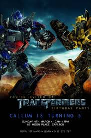 transformers bumblebee and optimus prime boy birthday party