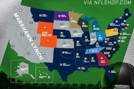 Nfl Usa Map by Marshawn Lynch Is Dominating The Entire Western U S In Jersey