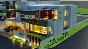 Architectural Design Of 1 Kanal House 3d Front Elevation Com Pakistan
