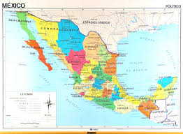 Mexico Physical Map by Mexico Internal U0026 External Affairs