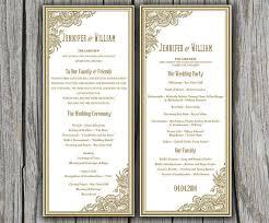 tea length wedding programs templates free awesome microsoft wedding program template gallery styles
