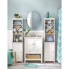 Bathroom Vanity With Linen Tower Linen Cabinet With Hamper White Corner Vanity Pull Linen Cabinet