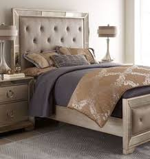Silver Mirrored Bedroom Furniture by Farrah King Bedroom Group By Pulaski Furniture Hollywood Glam